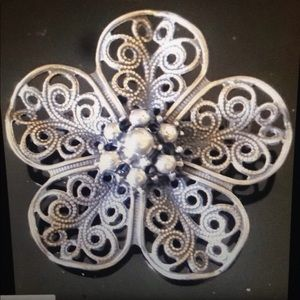 Collectible Vintage Beau Sterling Silver Brooch